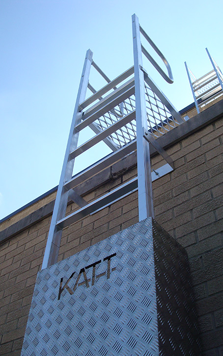 Steel Fixed Ladder Roof Access Ladder Modular Technique