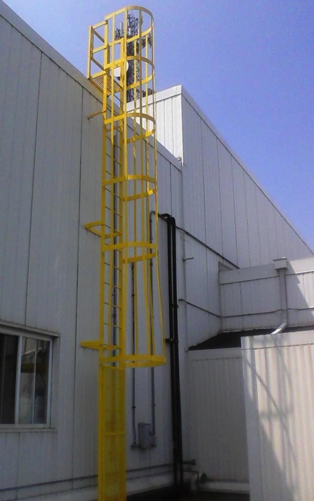 Steel Fixed Ladder Roof Access Ladder Modular Technique