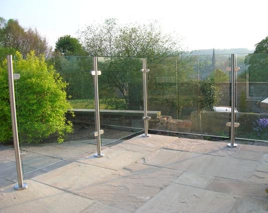 Topless Stainless Steel Post Glass Guardrail Modular